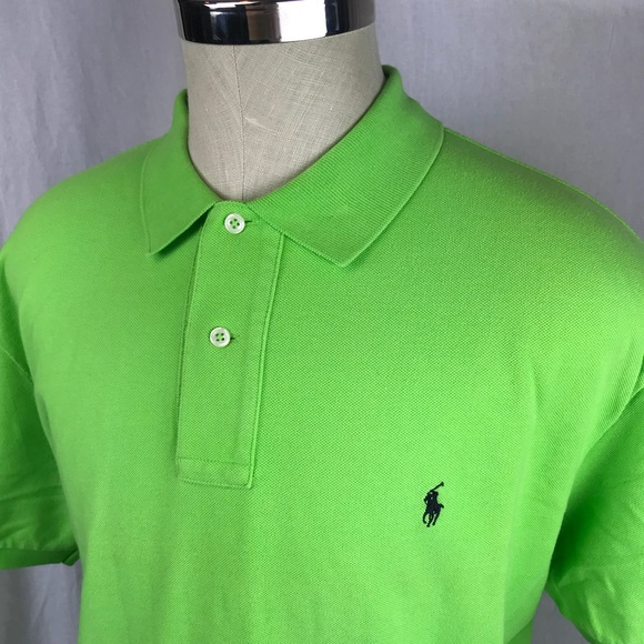 Men's XL Polo Ralph Lauren Lime green polo shirt